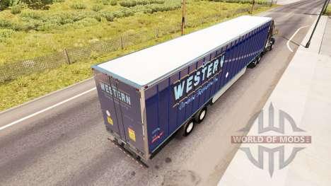 La piel Occidental en el remolque para American Truck Simulator