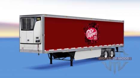 La piel Dr Pepper en el remolque para American Truck Simulator