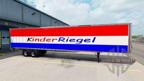 La piel de Kinder Riegel en el remolque para American Truck Simulator
