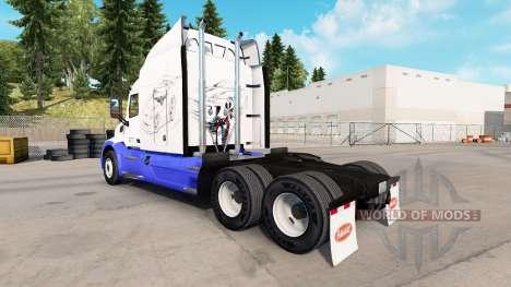 La piel Bocetos de los Autos en el tractor Peter para American Truck Simulator