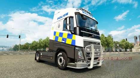 La policía de la piel para camiones Volvo para Euro Truck Simulator 2