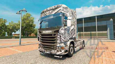 Batik de Indonesia de la piel para Scania camión para Euro Truck Simulator 2