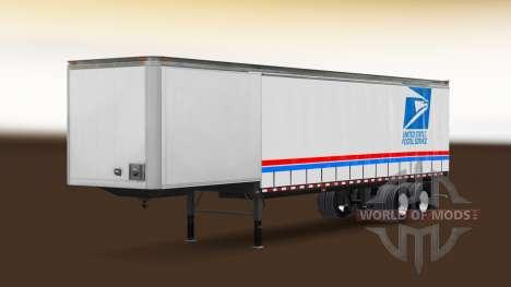 La piel de USPS en el remolque para American Truck Simulator