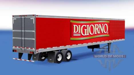 Refrigerado semi-remolque DiGiorno para American Truck Simulator