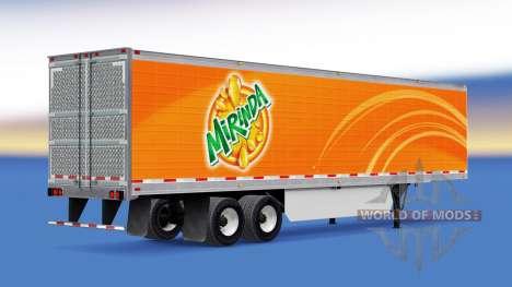 Mirinda de la piel en el remolque refrigerado para American Truck Simulator