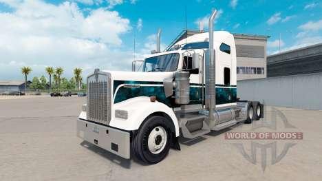 La piel Personalizado Azul Nuevo camión Kenworth para American Truck Simulator