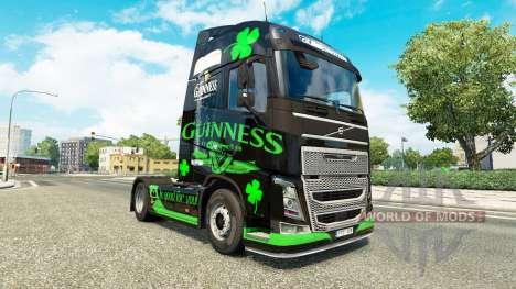 Guinness de la piel para camiones Volvo para Euro Truck Simulator 2