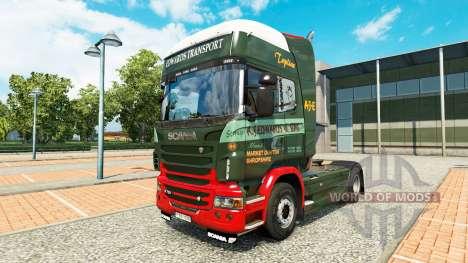Edwards Transporte de la piel para Scania camión para Euro Truck Simulator 2