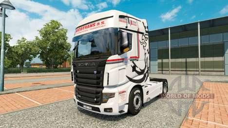 La piel NikoTrans en el tractor Scania R700 para Euro Truck Simulator 2