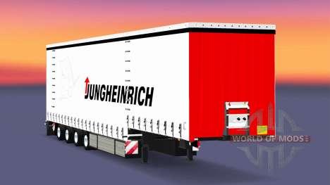 Cuatro ejes de la cortina semi-remolque Krone para Euro Truck Simulator 2
