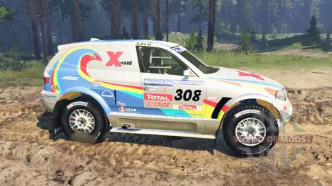 BMW X3 Rally para Spin Tires