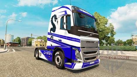 Griffin piel para camiones Volvo para Euro Truck Simulator 2