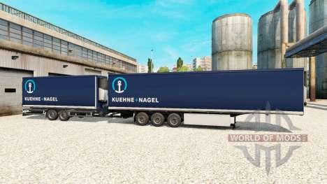 Semi Remolque De La Corona Gigaliner [Kuehne Nag para Euro Truck Simulator 2