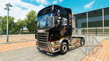 La piel de la etiqueta Engomada de la Bomba en c para Euro Truck Simulator 2