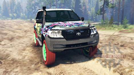 Toyota Land Cruiser 200 [Monster Energy] para Spin Tires