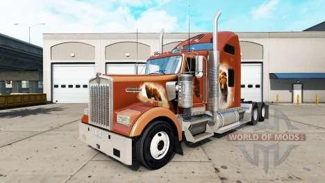 La piel de Los Osos Den en el camión Kenworth W9 para American Truck Simulator
