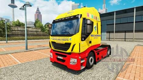 Fred Sherwood piel para Iveco tractora para Euro Truck Simulator 2