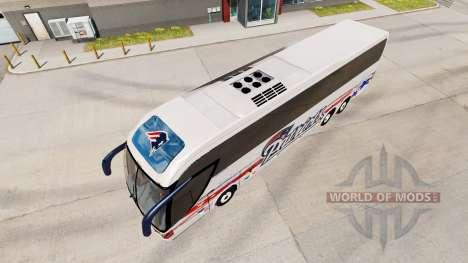 La piel de los Patriotas un autobús Mascarello R para American Truck Simulator