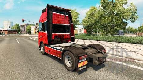 Piel Piel Rojo Negro en Volvo trucks para Euro Truck Simulator 2