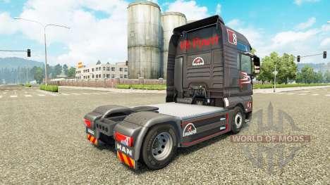 Gris Rojo de piel para HOMBRE camión para Euro Truck Simulator 2