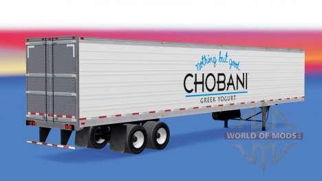 Feudales de la piel en el remolque refrigerado para American Truck Simulator