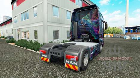 El Fractal de la Llama de la piel para el HOMBRE para Euro Truck Simulator 2