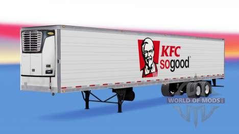 La piel de KFC reefer semi-remolque para American Truck Simulator