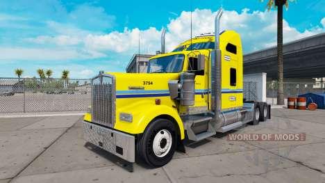 La piel en Penske camión Kenworth W900 para American Truck Simulator