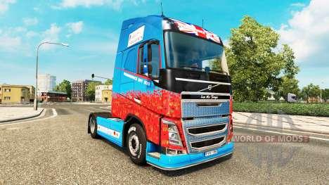 La Ayuda Para los Héroes de la piel para camione para Euro Truck Simulator 2