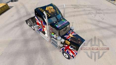 La piel de la Reina en el camión Kenworth W900 para American Truck Simulator