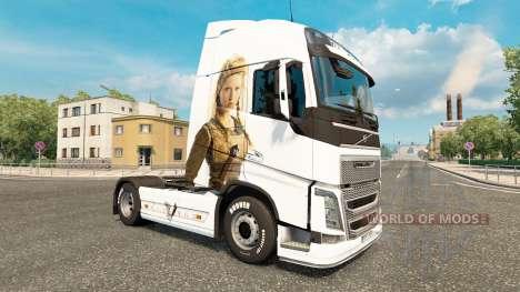 Los vikingos de la piel para camiones Volvo para Euro Truck Simulator 2