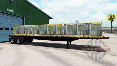 El semirremolque de plataforma con diferentes ca para American Truck Simulator