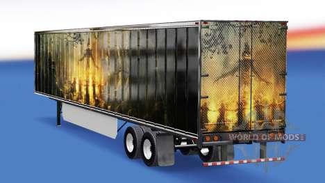La piel de la Calabaza en el remolque para American Truck Simulator