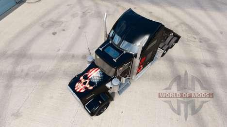La piel sobre el Cráneo de camiones Kenworth W90 para American Truck Simulator
