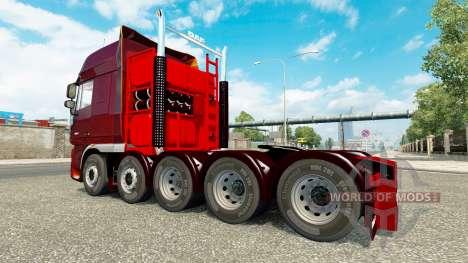 Adicional para el chasis de tractor DAF XF para Euro Truck Simulator 2