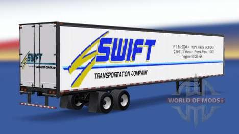 Todo el metal-semirremolque Swift para American Truck Simulator