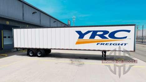 De metal semi-YRC Freight para American Truck Simulator