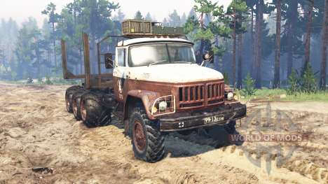 ZIL-131 8x8 para Spin Tires