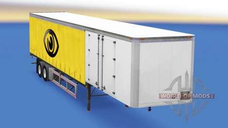 30 toneladas de cortina de remolque para American Truck Simulator