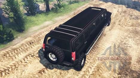 Hummer H3 [limousine] para Spin Tires