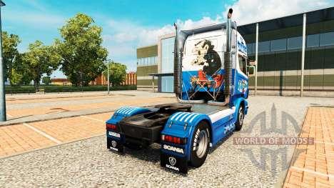 Los pitufos de la piel para Scania camión para Euro Truck Simulator 2