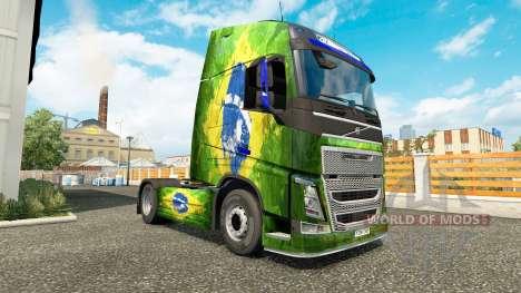 La piel Brasil en Volvo trucks para Euro Truck Simulator 2
