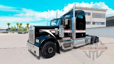 La piel en Blanco y Negro en el camión Kenworth  para American Truck Simulator