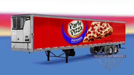 Refrigerado semi-remolque Fiesta de Pizza para American Truck Simulator
