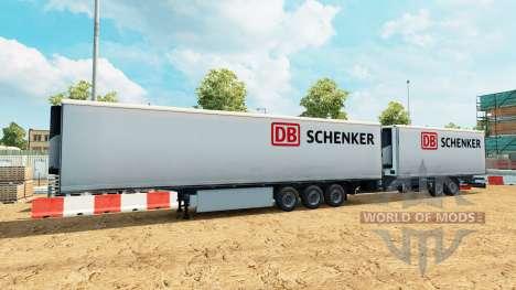 Semi remolque de la Corona Gigaliner [DB Schenke para Euro Truck Simulator 2