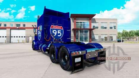 La piel de la carretera Interstate 95 Peterbilt  para American Truck Simulator