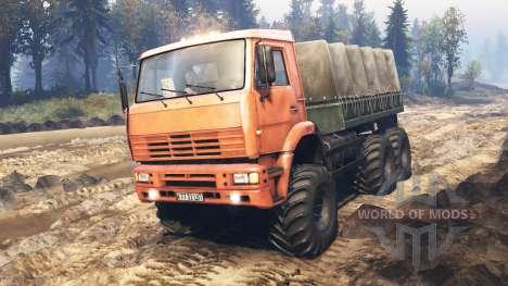 KamAZ-6522 v5.0 para Spin Tires