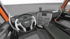 Interior de la nueva tractoras Iveco