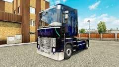 La piel de Humo Azul en el tractor Renault