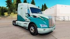 La piel en el Largo plazo camión Peterbilt